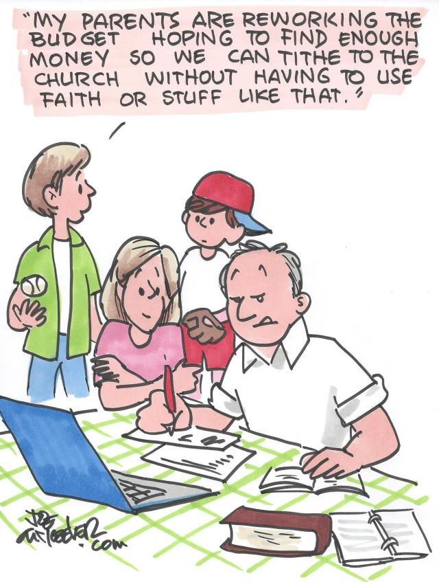 Joe McKeever creates a weekly cartoon feature for The Alabama Baptist.