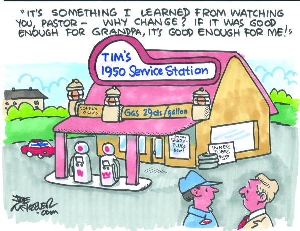 Thanks to Joe McKeever for supplying TAB's weekly cartoon.