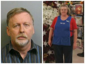 Richard Shahan (left) is accused of killing his wife, Karen (right), in July 2013. Source: Jefferson County Sheriff's office and WBRC video clip.