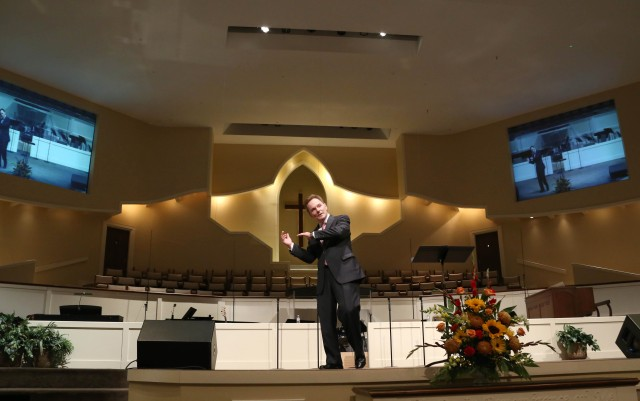 Southern Baptist Convention President Ronnie Floyd speaks at the Alabama Baptist State Convention annual meeting at Eastern Shore Baptist Church, Daphne.