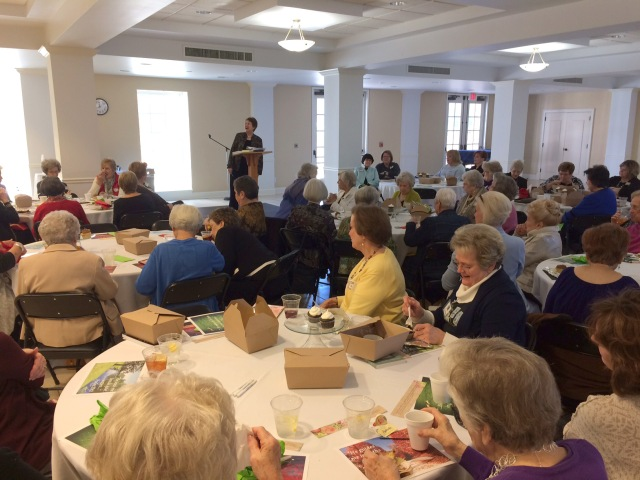 Denise George, wife of Beeson Divinity School Dean Timothy George, and author of 30 books, shares about seasons of a woman's life with widows at the kick-off luncheon of Seasons, a ministry of and for widows, at Dawson Memorial Baptist Church, Birmingham.